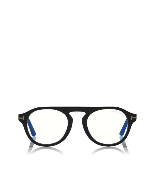 BLUE BLOCK ROUND OPTICALS