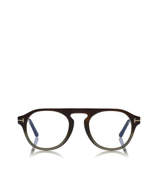 BLUE BLOCK KEYHOLE OPTICALS WITH MAGNETIC CLIP