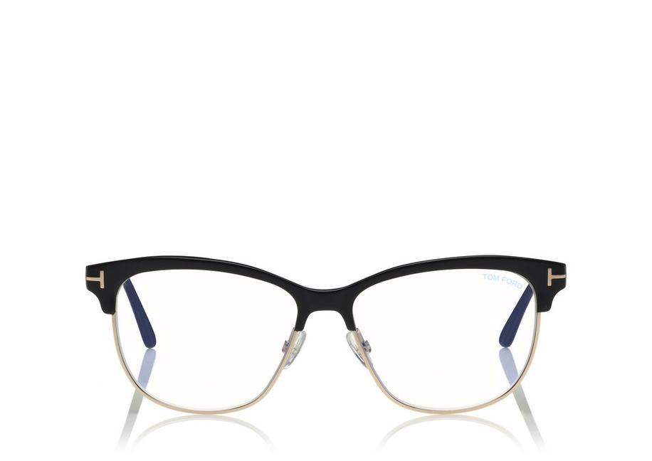 BLUE BLOCK BROWLINE OPTICALS A fullsize