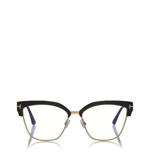 BLUE BLOCK METAL CATEYE OPTICALS