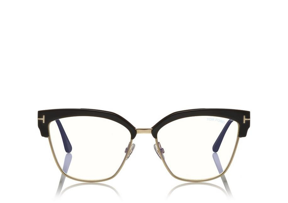 BLUE BLOCK METAL CATEYE OPTICALS A fullsize