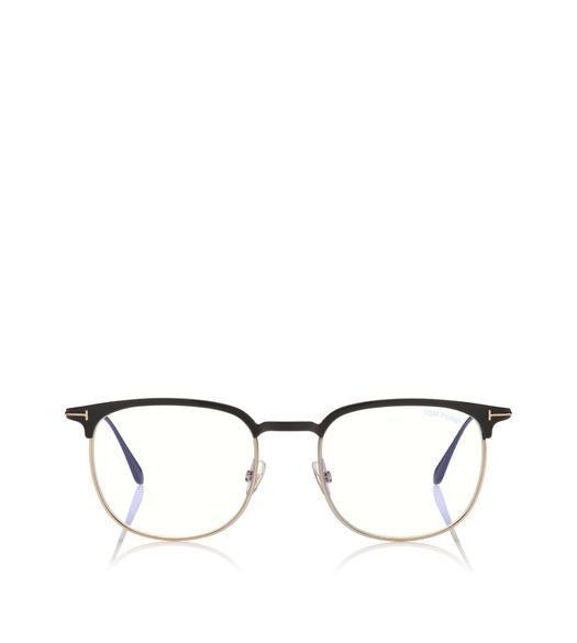 BLUE BLOCK HALF-RIM OPTICALS