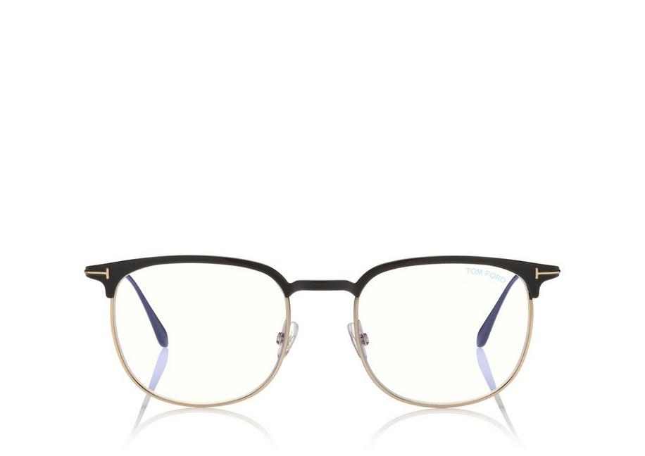BLUE BLOCK HALF-RIM OPTICALS A fullsize