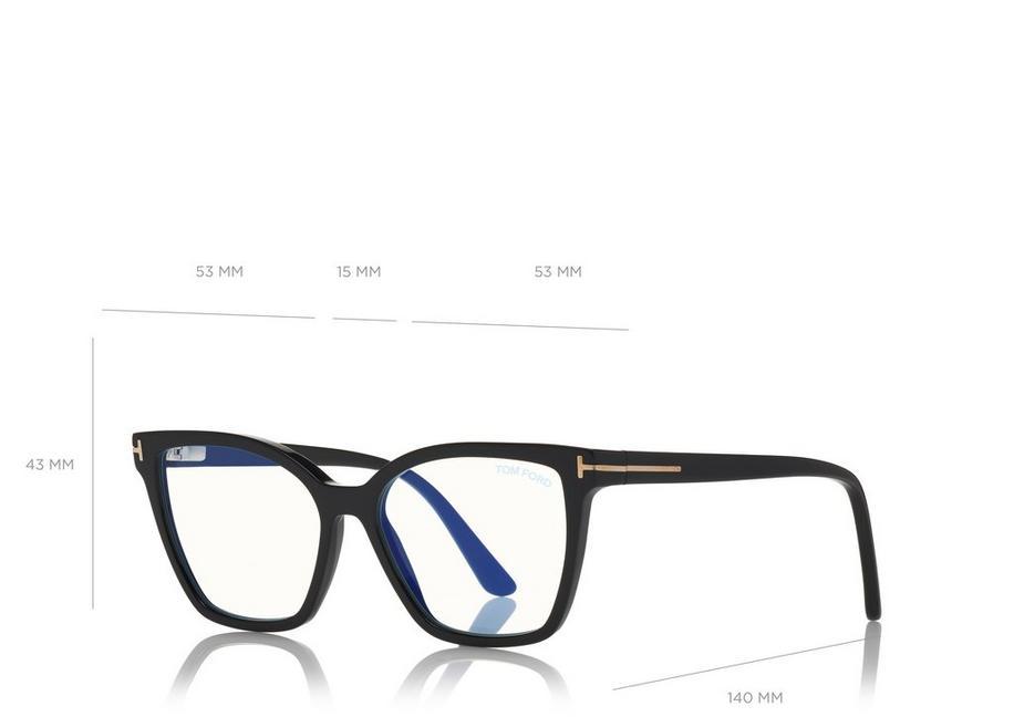 b486e38a6089 Tom Ford DOUBLE CLIP ON BLUE BLOCK OPTICALS - Eyewear