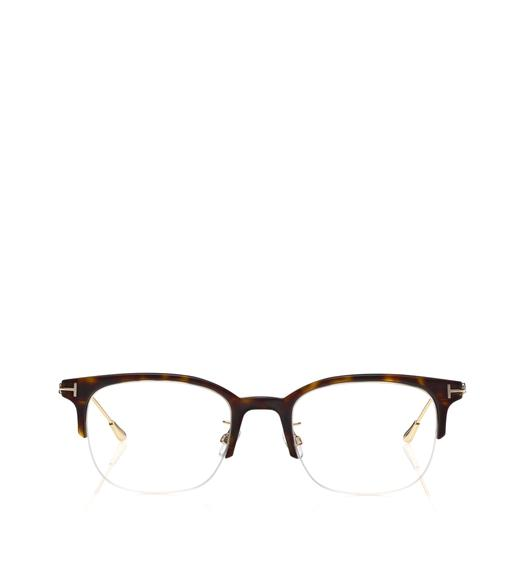 BLUE BLOCK BROWLINE OPTICALS