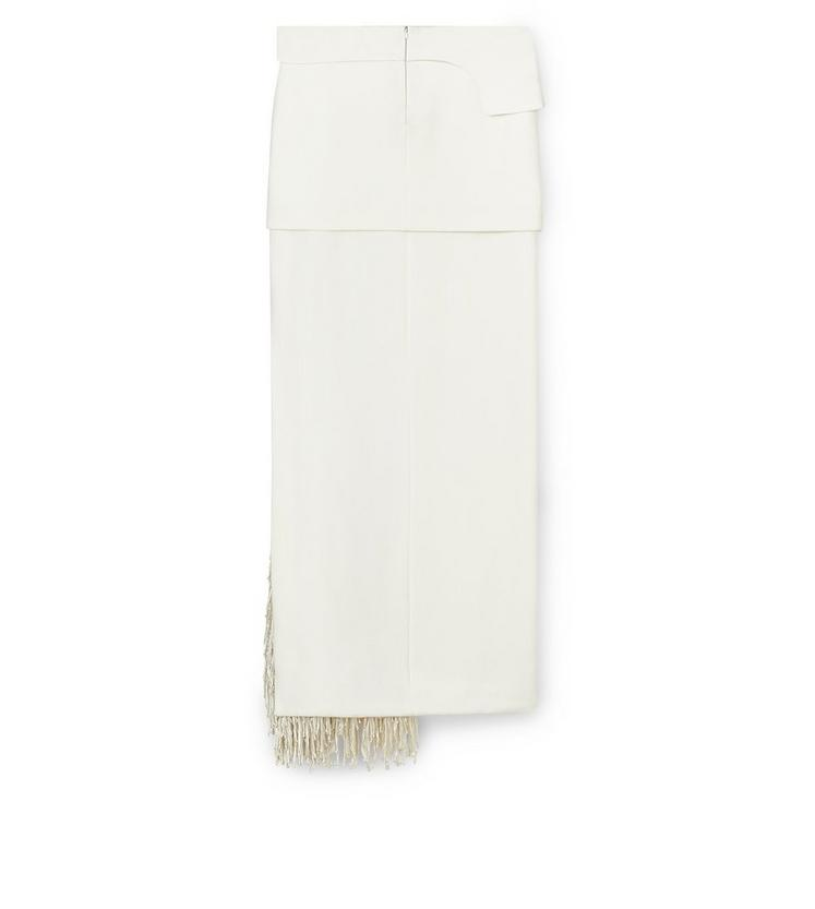 KNOTTED FRINGE EMBROIDERY AND CADY LAYERED COLUMN SKIRT B fullsize