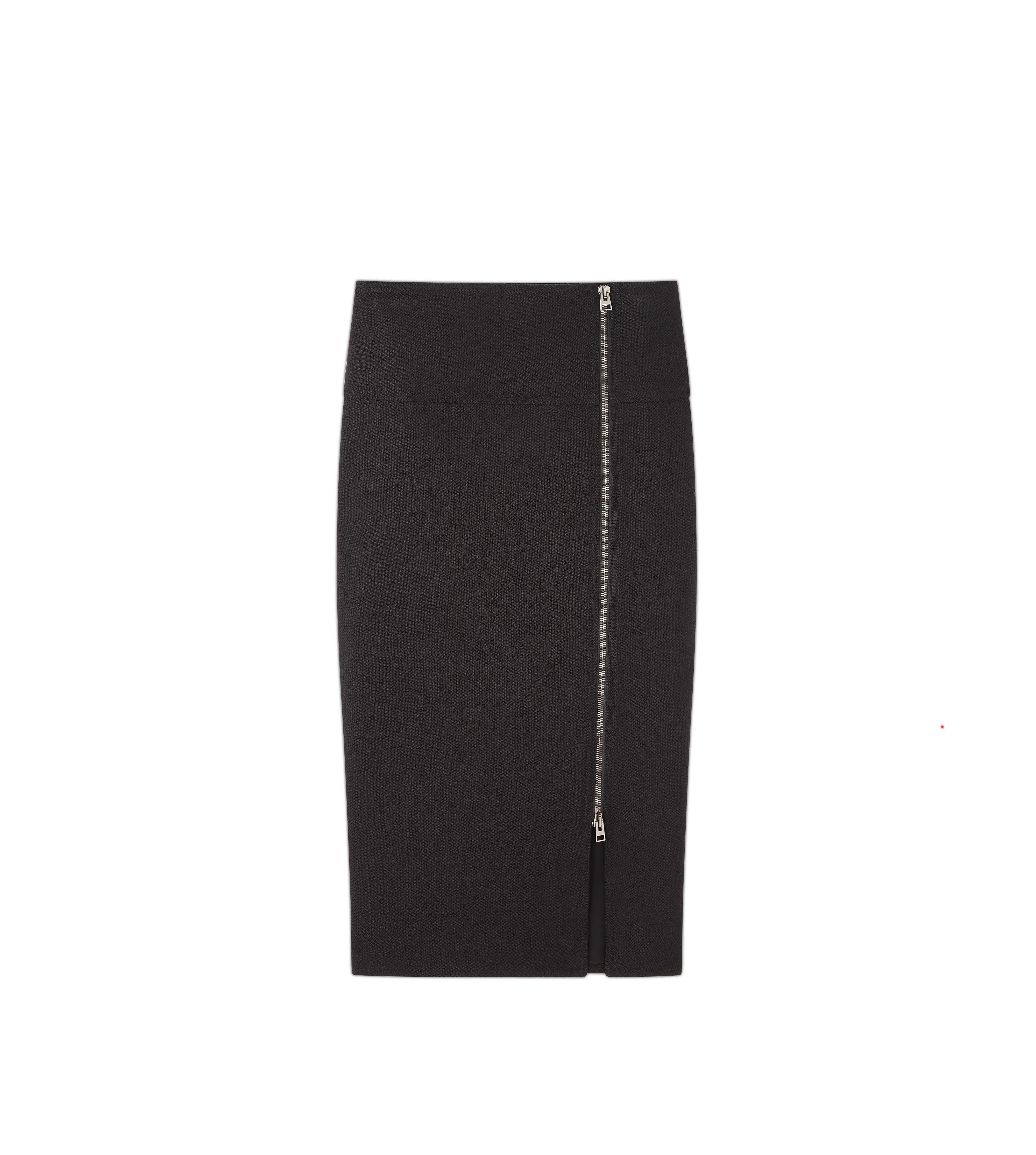 WOOL SIDE ZIP PENCIL SKIRT A thumbnail