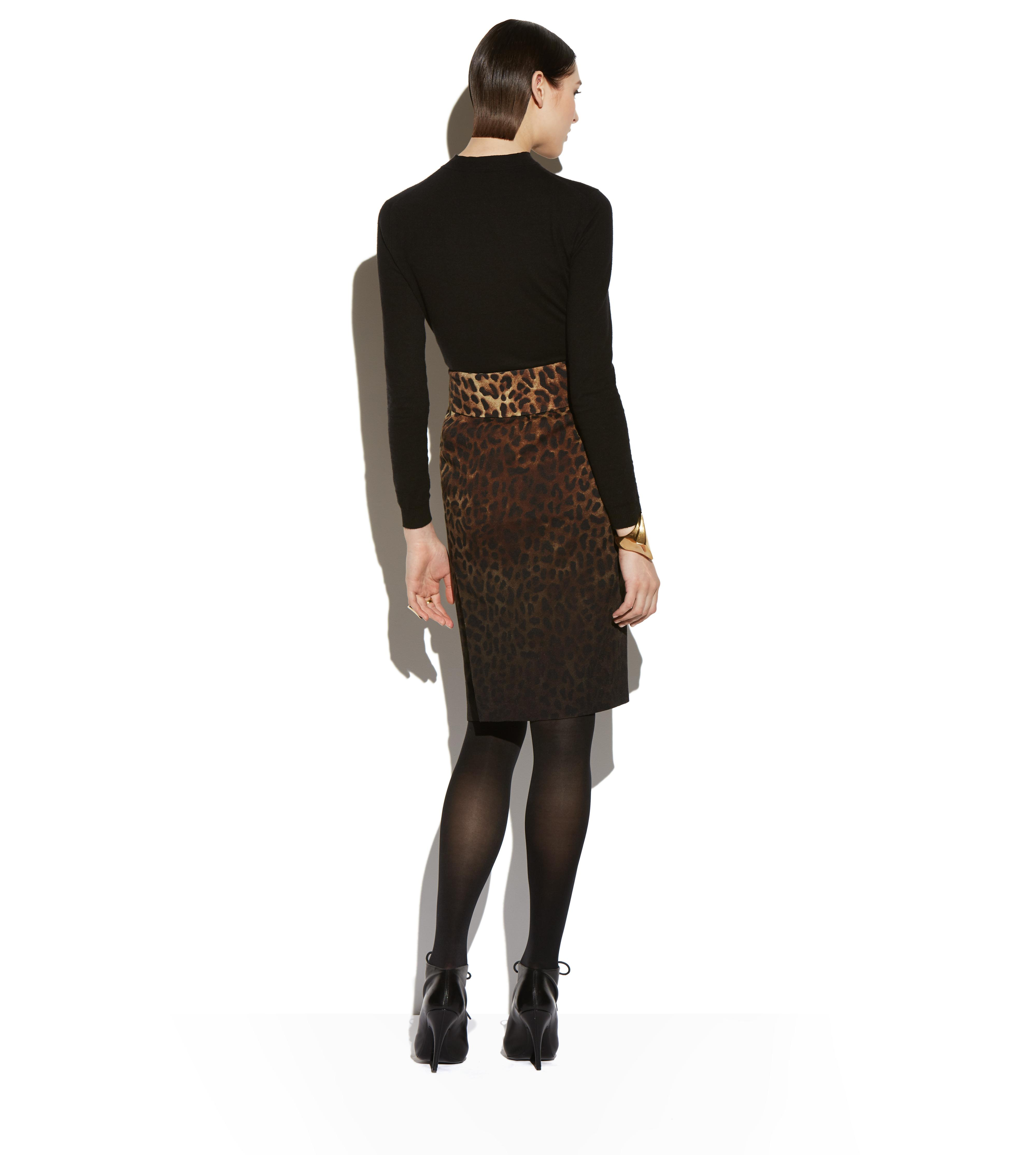 BELTED JAGUAR SABLE PENCIL SKIRT D thumbnail