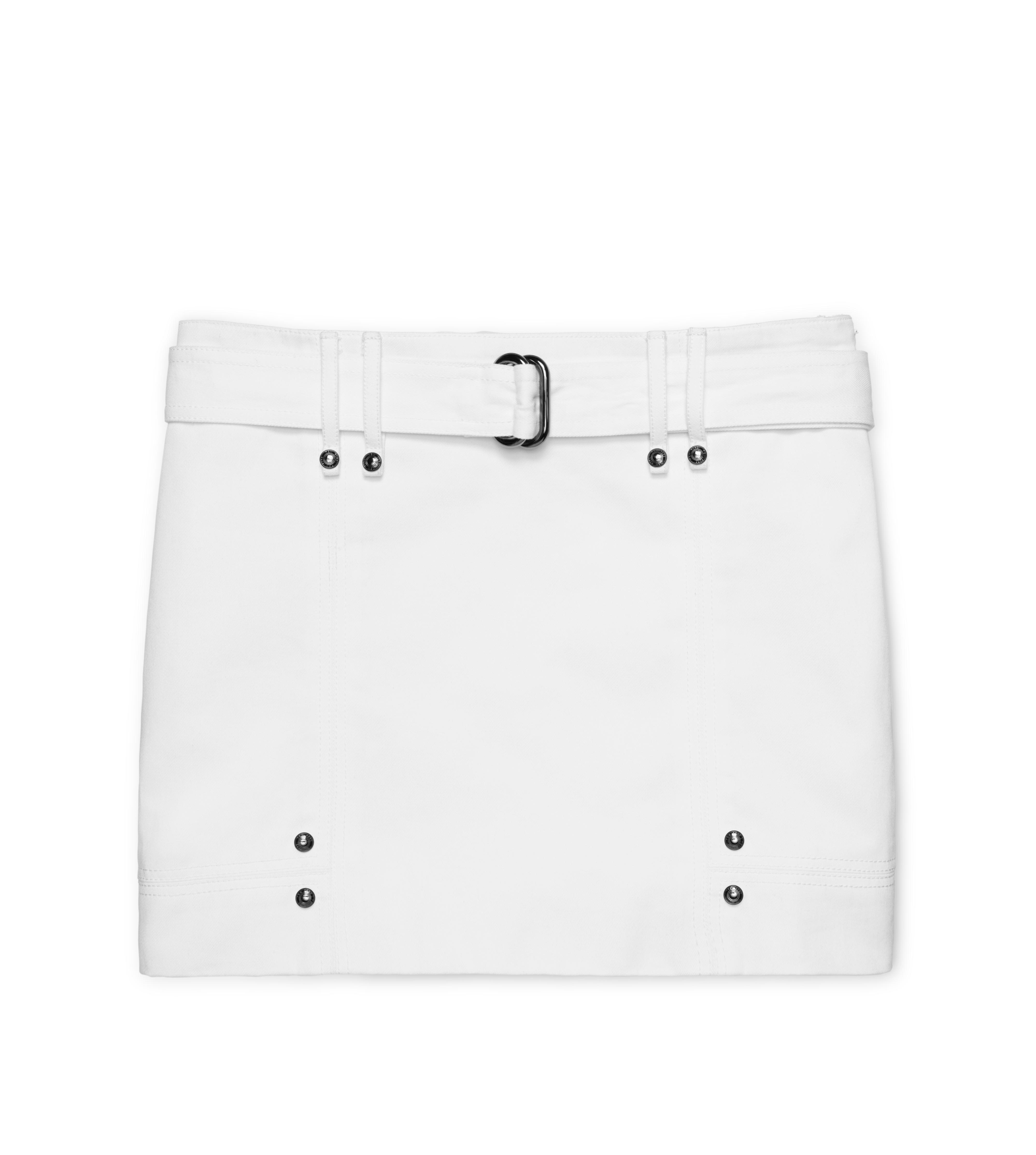 COTTON TWILL MINI SKIRT A thumbnail