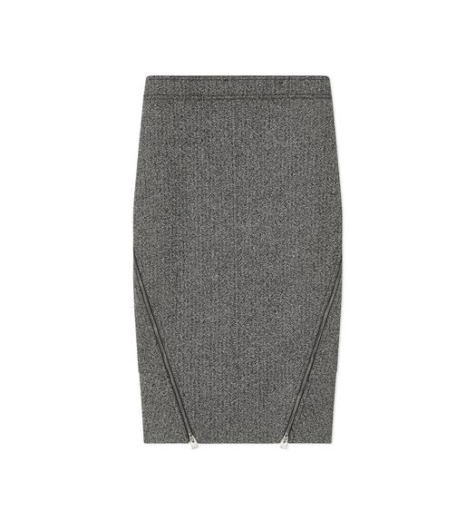 TWEED ZIP SKIRT