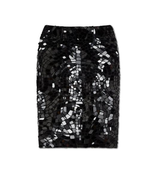 MIRROR PENCIL SKIRT