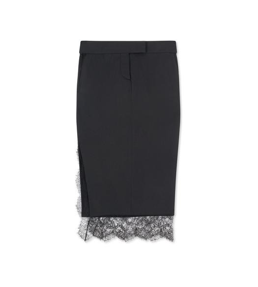 LIGHT MIKADO TROUSER SKIRT