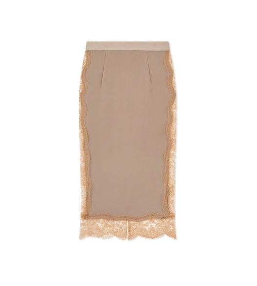 SILK GEORGETTE SLIP SKIRT