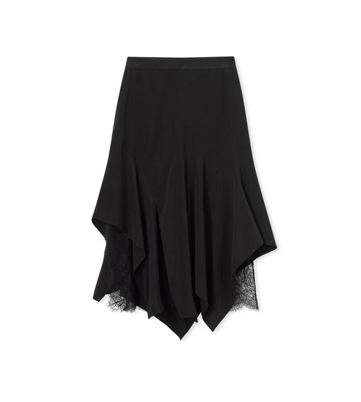 SILK CREPE DE CHINE HANDKERCHIEF SKIRT