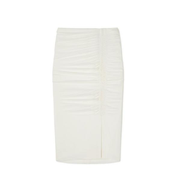 STRETCH SABLE RUCHED PENCIL SKIRT A fullsize