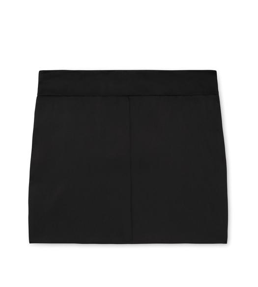 STRETCH SILK SATIN MINI SKIRT