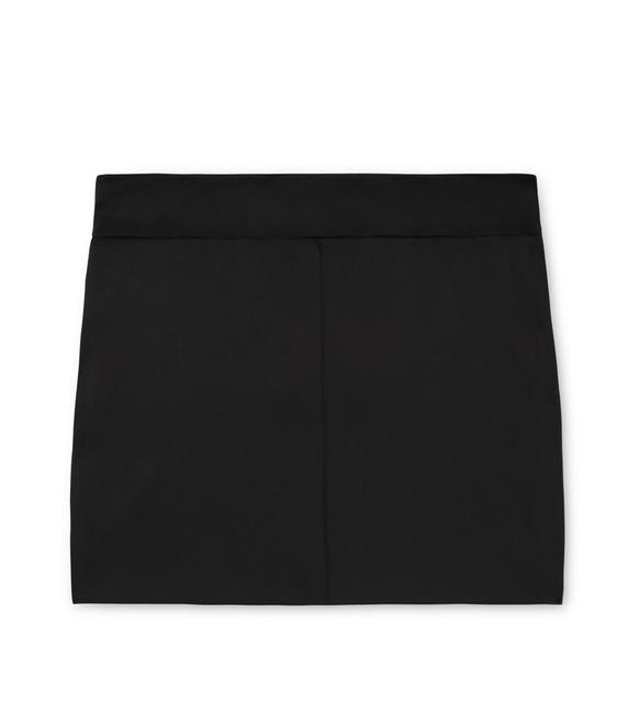 STRETCH SILK SATIN MINI SKIRT A fullsize