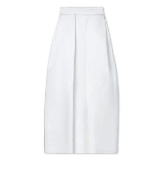 DOUBLE SILK DUCHESSE PLEATED SKIRT