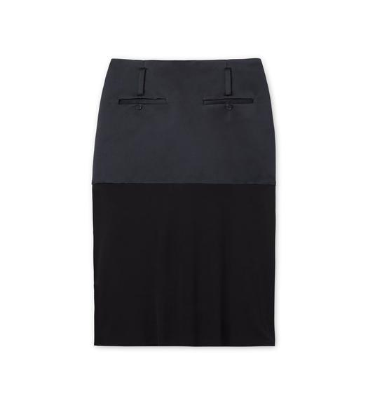 DOUBLE SILK DUCHESSE SKIRT WITH JERSEY INSERT