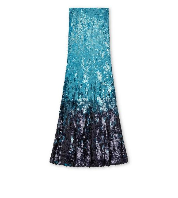 SEQUINED DEGRADE' LONG EVENING SKIRT A fullsize