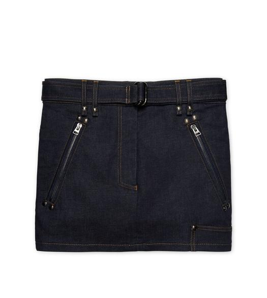 RAW DENIM MINI SKIRT