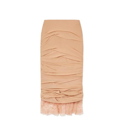 LIGHT JERSEY RUCHED SKIRT