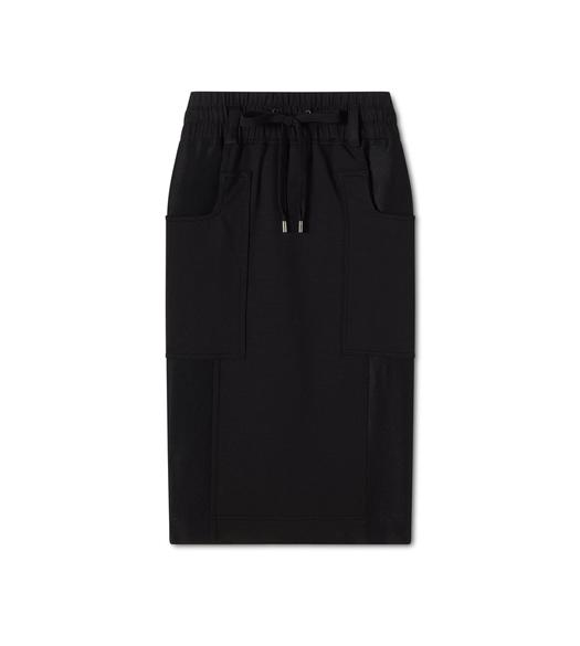 STRETCH SILK JERSEY DRAWSTRING SKIRT