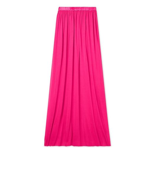 CREPE JERSEY FULL LENGTH SKIRT