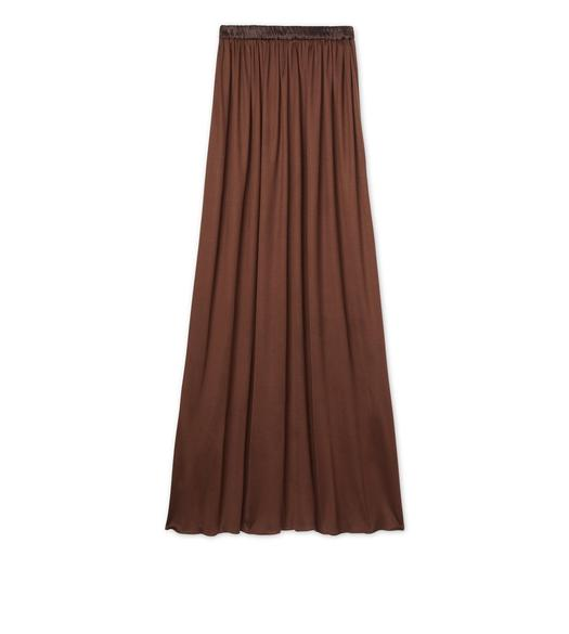 VISCOSE SILK FULL LENGTH SKIRT
