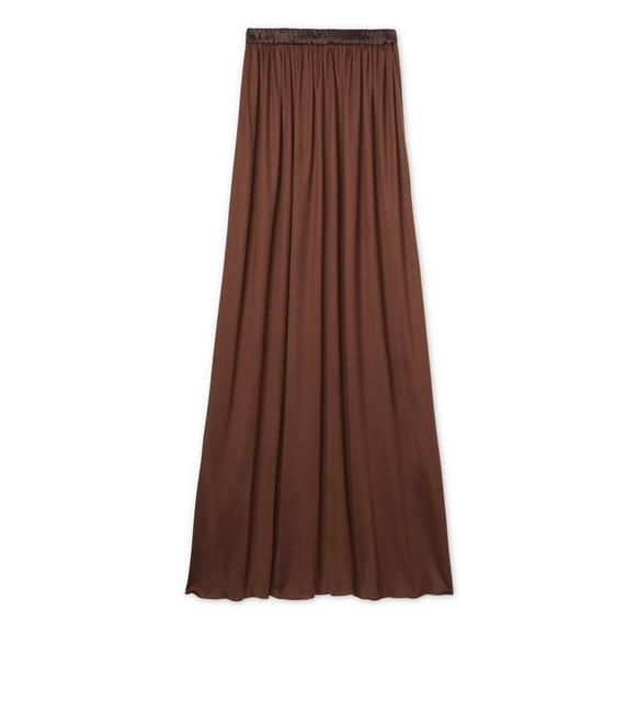 VISCOSE SILK FULL LENGTH SKIRT A fullsize