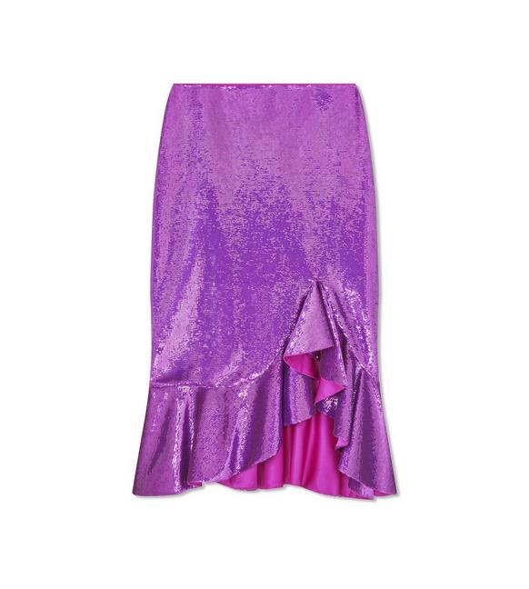 EMBROIDERY ALL OVER RUFFLE SKIRT A fullsize