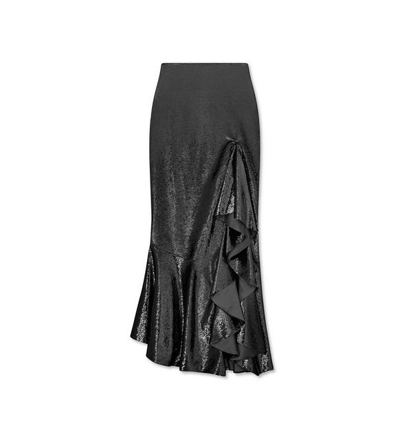 EMBROIDERY ALL OVER LONG RUFFLE SKIRT A fullsize