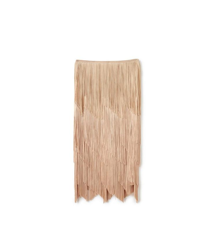 KNEE LENGTH FRINGE PENCIL SKIRT A fullsize