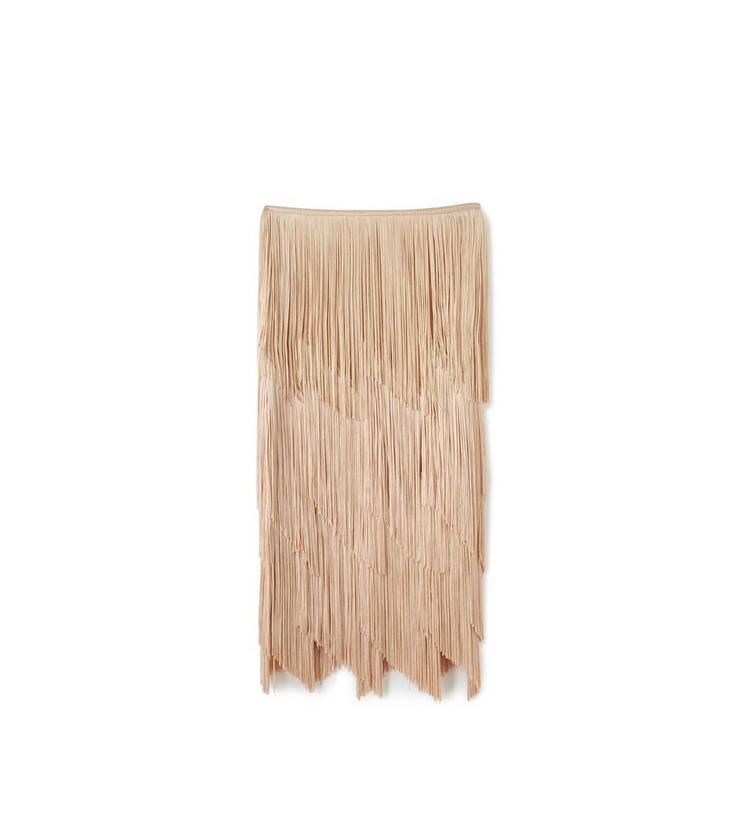 KNEE LENGTH FRINGE PENCIL SKIRT B fullsize