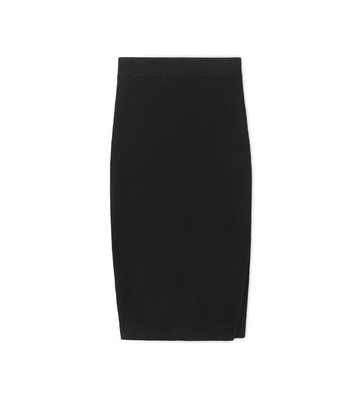 CASHMERE PENCIL SKIRT WITH SIDE SLIT