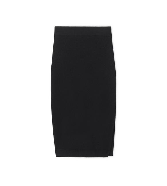 CASHMERE PENCIL SKIRT WITH SIDE SLIT A fullsize