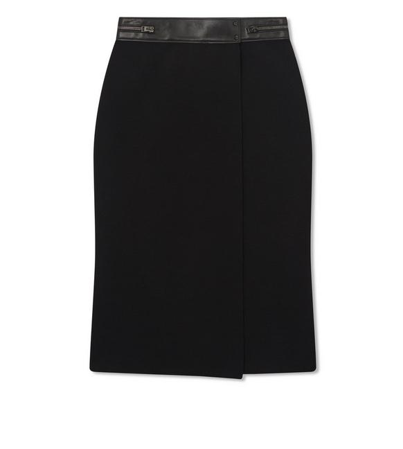 STRETCH WOOL WRAP SKIRT A fullsize