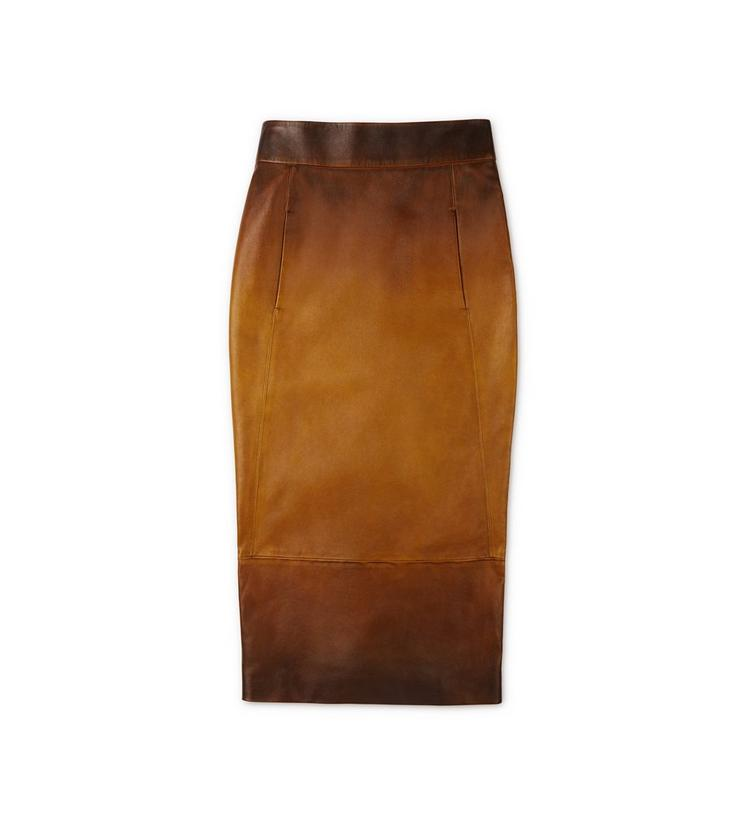 HAND RUBBED LEATHER SKIRT A fullsize