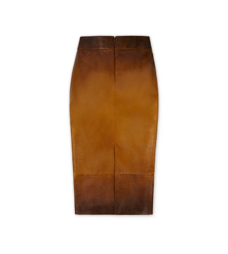 HAND RUBBED LEATHER SKIRT B fullsize