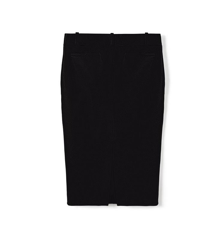 PERFORATED LEATHER PENCIL SKIRT B fullsize