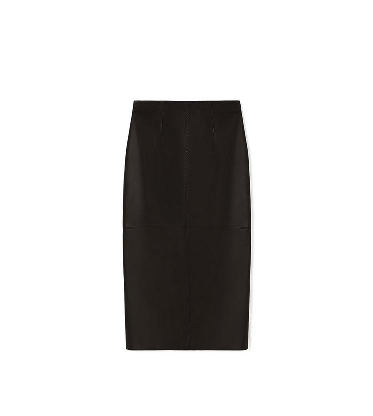 LEATHER PENCIL SKIRT A fullsize