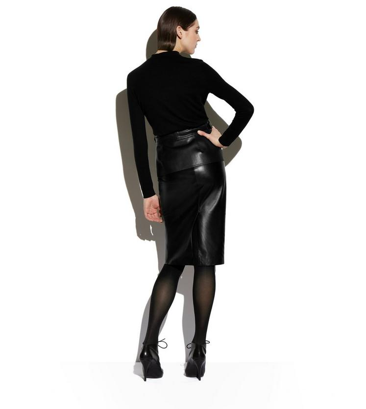 Tom Ford LEATHER PENCIL SKIRT WITH PEPLUM BELT | TomFord.com