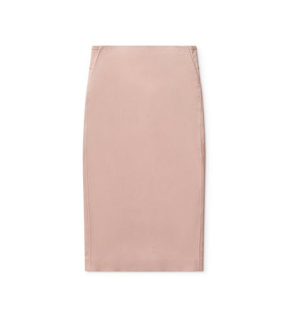 LEATHER ZIP PENCIL SKIRT A fullsize