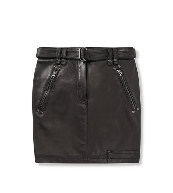 LEATHER MINI SKIRT A fullsize