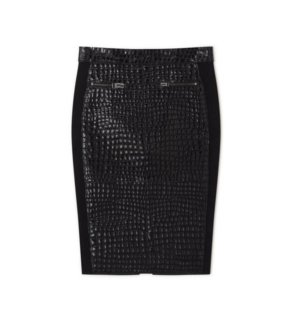 CROCODILE EMBOSSED SKIRT A fullsize