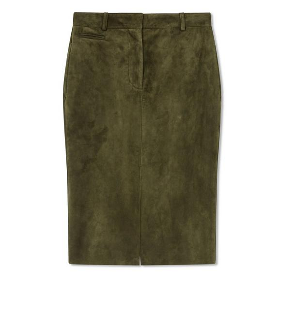 CASHMERE SUEDE PENCIL SKIRT A fullsize