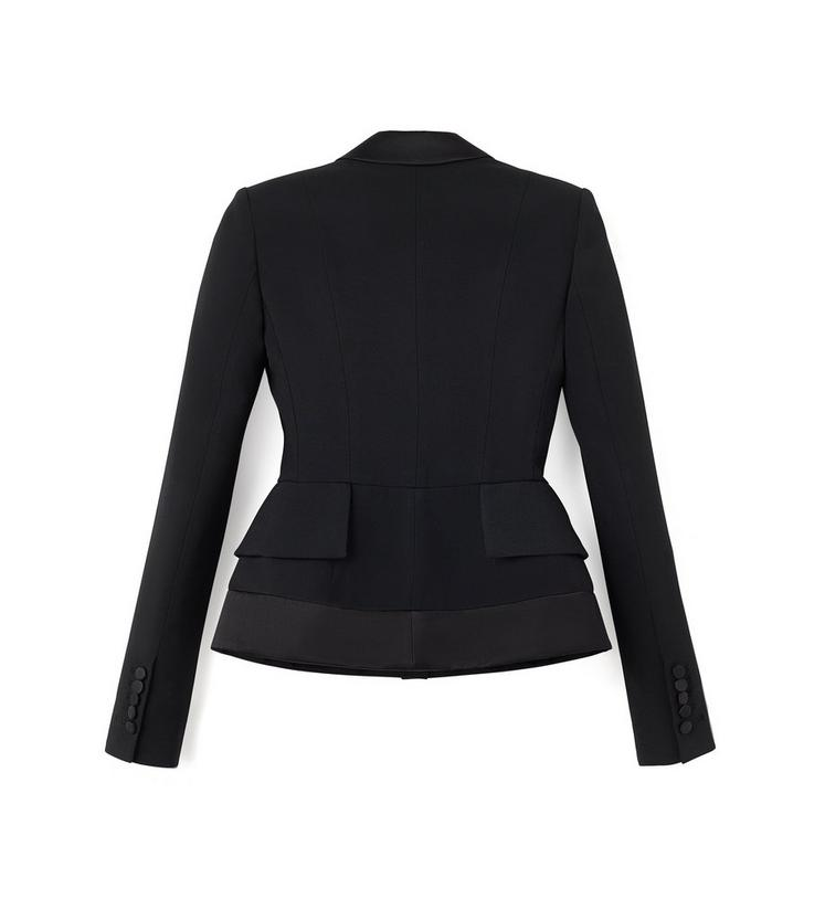 SINGLE BREASTED TUXEDO JACKET WITH PADDED HIPS B fullsize