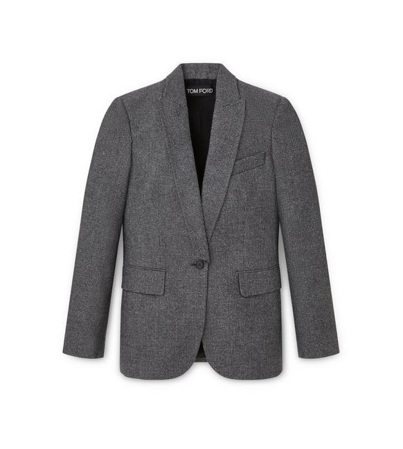 WOOL PRINCE OF WALES OVERSIZED JACKET A fullsize