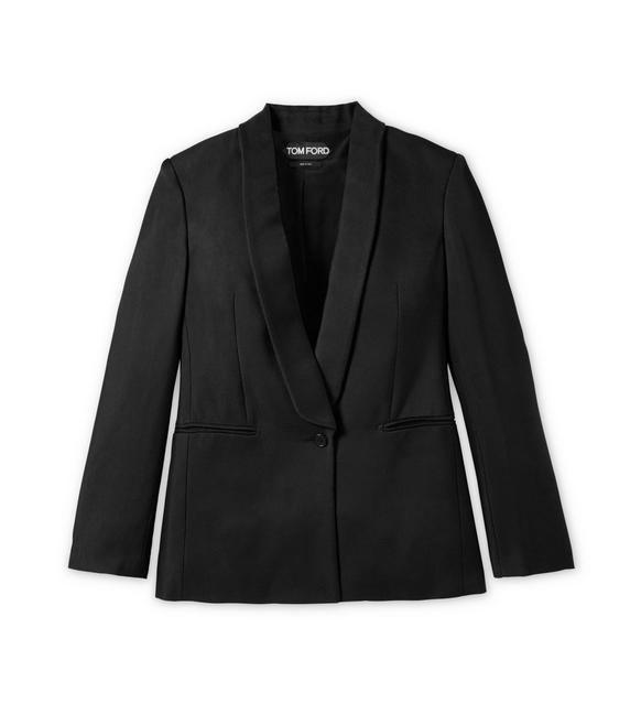 SHAWL LAPEL VISCOSE SUITING TUXEDO JACKET A fullsize