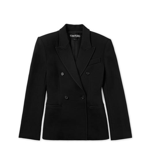 FITTED DOUBLE BREASTED WOOL JACKET